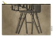 Vintage Photographic Camera Patent Carry-all Pouch