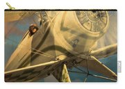 Vintage Plane In Flight Carry-all Pouch