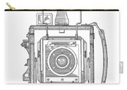 Vintage Press Camera Patent Drawing Carry-all Pouch