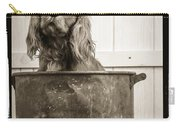 Vintage Puppy Bath Carry-all Pouch by Edward Fielding