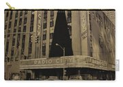 Vintage Radio City Music Hall Carry-all Pouch by Dan Sproul