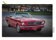Vintage Red 1966 Ford Mustang V8 Convertible  E48 Carry-all Pouch