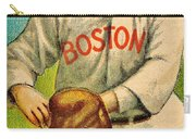 Vintage Red Sox Carry-all Pouch by Benjamin Yeager