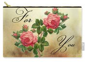 Vintage Roses For You Carry-all Pouch
