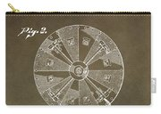 Vintage Roulette Wheel Patent Carry-all Pouch
