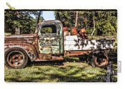 Vintage Rusty Old Truck 1940 Carry-all Pouch