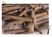 Vintage Rusty Square Nails Carry-all Pouch