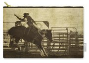 Vintage Saddle Bronc Riding Carry-all Pouch