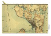 Vintage Seattle Map Carry-all Pouch