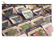 Vintage Seed Packages Carry-all Pouch by Edward Fielding