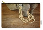 Vintage Shoes And Pearls Carry-all Pouch