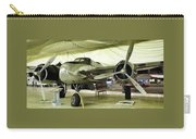 Vintage Silver Bomber Airplane Carry-all Pouch