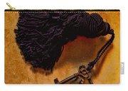 Vintage Skeleton Keys Tassled Gold Carry-all Pouch