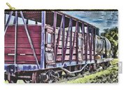 Vintage Steam Locomotive Carriages Carry-all Pouch