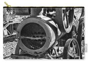 Vintage Steam Tractor Black And White Carry-all Pouch by Douglas Barnard