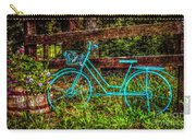 Vintage Summertime Blue Bike Carry-all Pouch