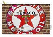 Vintage Texaco Gasoline Sign Dsc07195 Carry-all Pouch