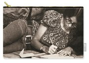 Vintage Young Woman Writing  Carry-all Pouch