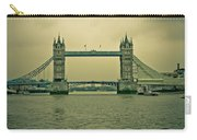 Vintage Tower Bridge Carry-all Pouch