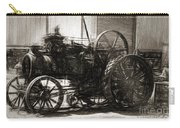 Vintage Tractor Drawing In Industrialised 1900s Carry-all Pouch
