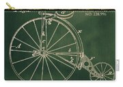 Vintage Velocipede Patent Carry-all Pouch