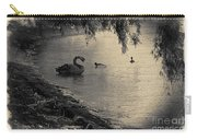 Vintage Views II - Swans And Cygnets Carry-all Pouch by Chris Armytage