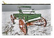 Vintage Wagon In The Snow E98 Carry-all Pouch