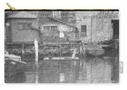 Vintage Waterfront Scene Carry-all Pouch