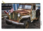 Vintage Willy's Jeep Pickup Truck Carry-all Pouch