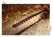 Vintage Wood Drill Carry-all Pouch