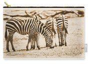 Vintage Zebras Carry-all Pouch