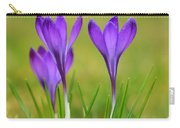 Trio Of Violet Crocuses Carry-all Pouch