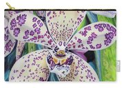 Violet Dotted Orchid Carry-all Pouch