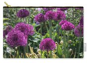 Violet Flowerbed Carry-all Pouch