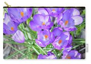 Violet Lilies Carry-all Pouch