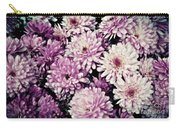 Violet Mums Carry-all Pouch