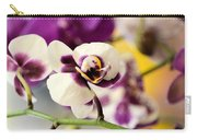 Violet Orchids Brushed With Gold Carry-all Pouch