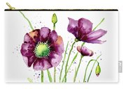 Violet Poppies Carry-all Pouch