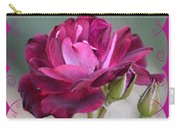 Violet Red Rose Carry-all Pouch