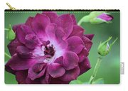 Violet Rose And Buds Carry-all Pouch