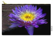 Violet Waterlily Carry-all Pouch