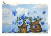 Violets On The Beach Carry-all Pouch