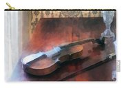 Violin On Credenza Carry-all Pouch