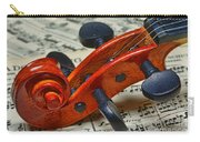 Violin Scroll Up Close Carry-all Pouch