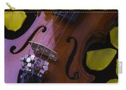Violin With Yellow Rose Carry-all Pouch
