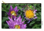 Virescent Metallic Green Bee Carry-all Pouch