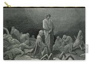 Virgil And Dante Looking At The Spider Woman, Illustration From The Divine Comedy Carry-all Pouch