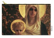 Virgin And Child Carry-all Pouch by Antoine Auguste Ernest Herbert