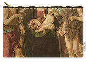Virgin And Child Between St. John Carry-all Pouch