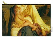 Virgin And Child Carry-all Pouch by Paul  Delaroche